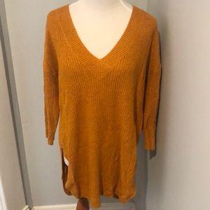 Express Long Burnt Orange Sweater